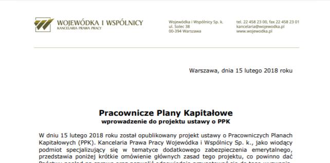 Ogłoszono projekt ustawy o Pracowniczych Planach Kapitałowych