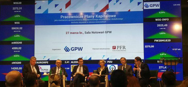 Konferencja dot. Pracowniczych Planów Kapitałowych na Giełdzie Papierów Wartościowych