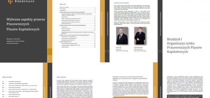 Najnowszy raport ekspertów Instytutu Emerytalnego – Wybrane aspekty prawne Pracowniczych Planów Kapitałowych