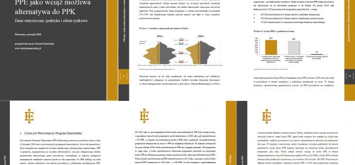PPE jako wciąż możliwa alternatywa do PPK– Dane statystyczne, praktyka i oferta rynkowa – najnowszy Raport ekspertów Instytutu