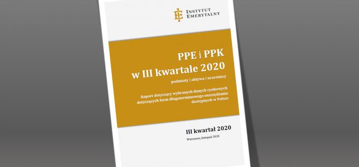 Raport: PPE iPPK wIII kwartale 2020 (aktywa, podmioty, uczestnicy)