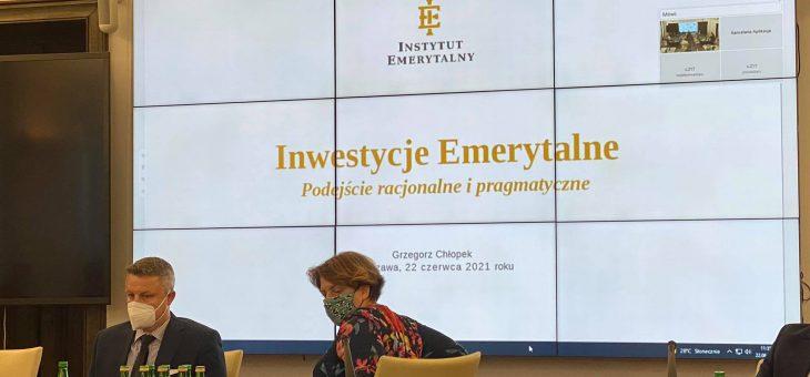 W Senacie dyskutowano o oszczędzaniu Polaków na emeryturę – debata Instytutu Emerytalnego oraz Instytutu Obywatelskiego pod patronatem Marszałka Senatu