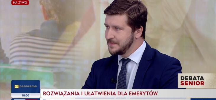 dr Antoni Kolek w programie -Debata Senior- w TVP INFO