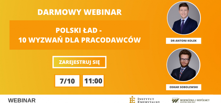 Polski Ład – 10 wyzwań dla pracodawców | webinar
